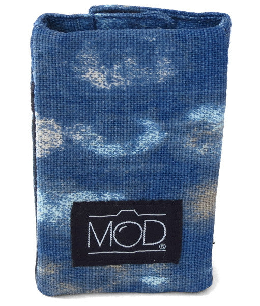 Mod Straps Blue Wash Camera Strap Wrap Storage Pouch