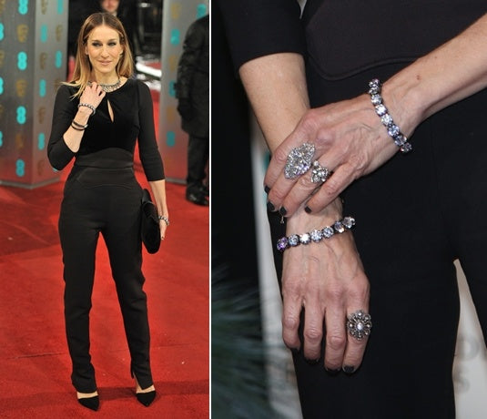 Sarah Jessica Parker wear multiple rings