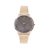 Rose Gold and Mother of Pearl Milanese Mesh Band Women's Wrist Watch