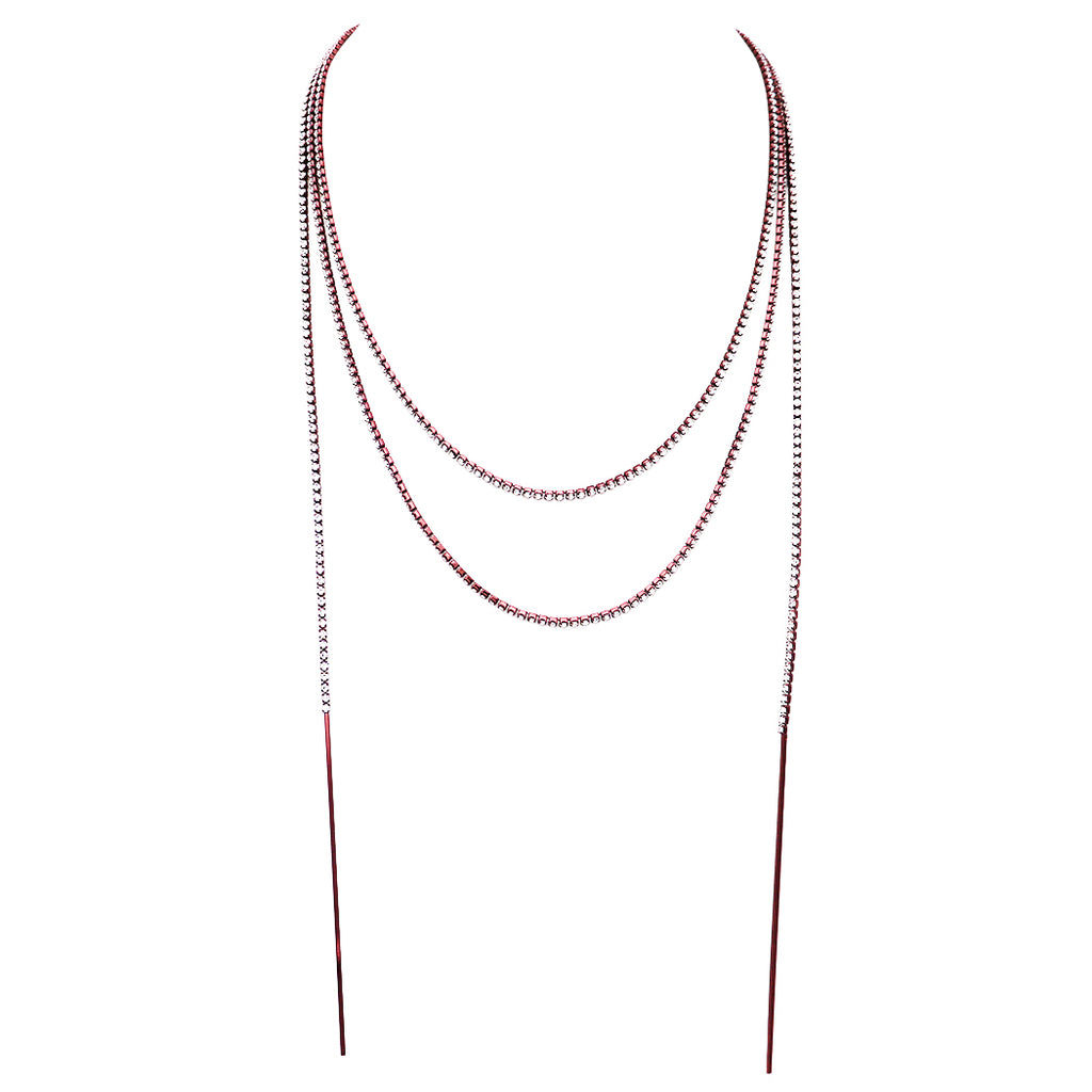 long necklace autumn rhinestone wrap collections strand products the collection rosemarie