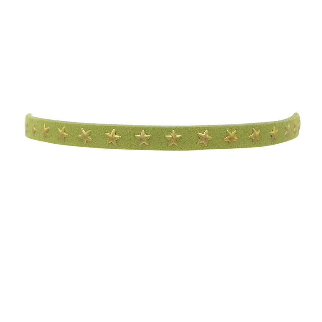 Vegan Suede Star Choker Necklace (Green)