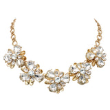 Rhinestone Special Occasion Statement Collar Necklace