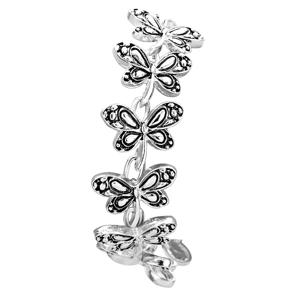 Butterfly Bracelet with Magnetic Closure
