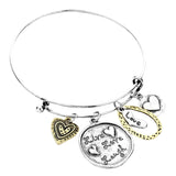 Live Laugh Love Heart Charm Bracelet