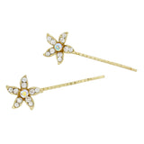 Set of 2 Sparkle Crystal Flower Hair Clip Pins