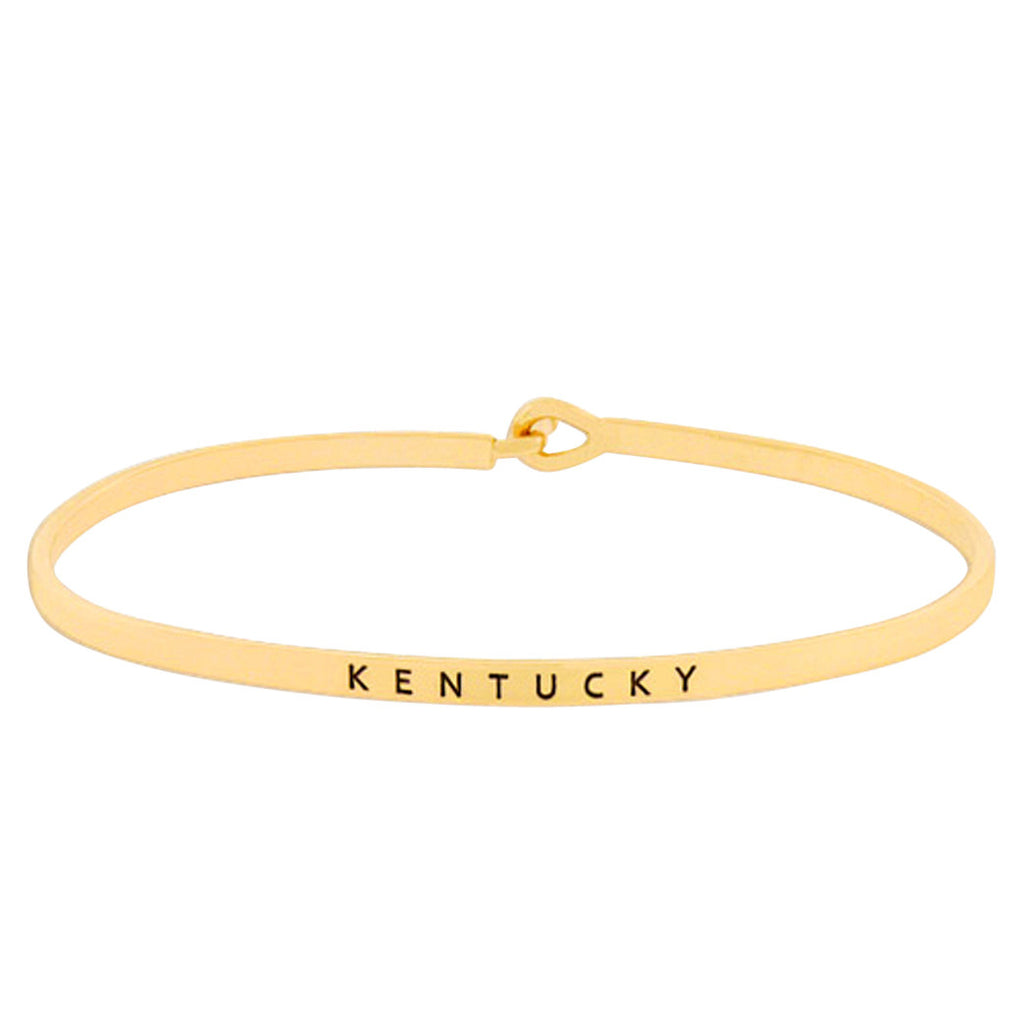 "Thin Hook Bangle Bracelet Color ""Kentucky"" (Gold)"