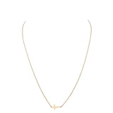 14 Karat Gold Dipped Cross Pendant Necklace