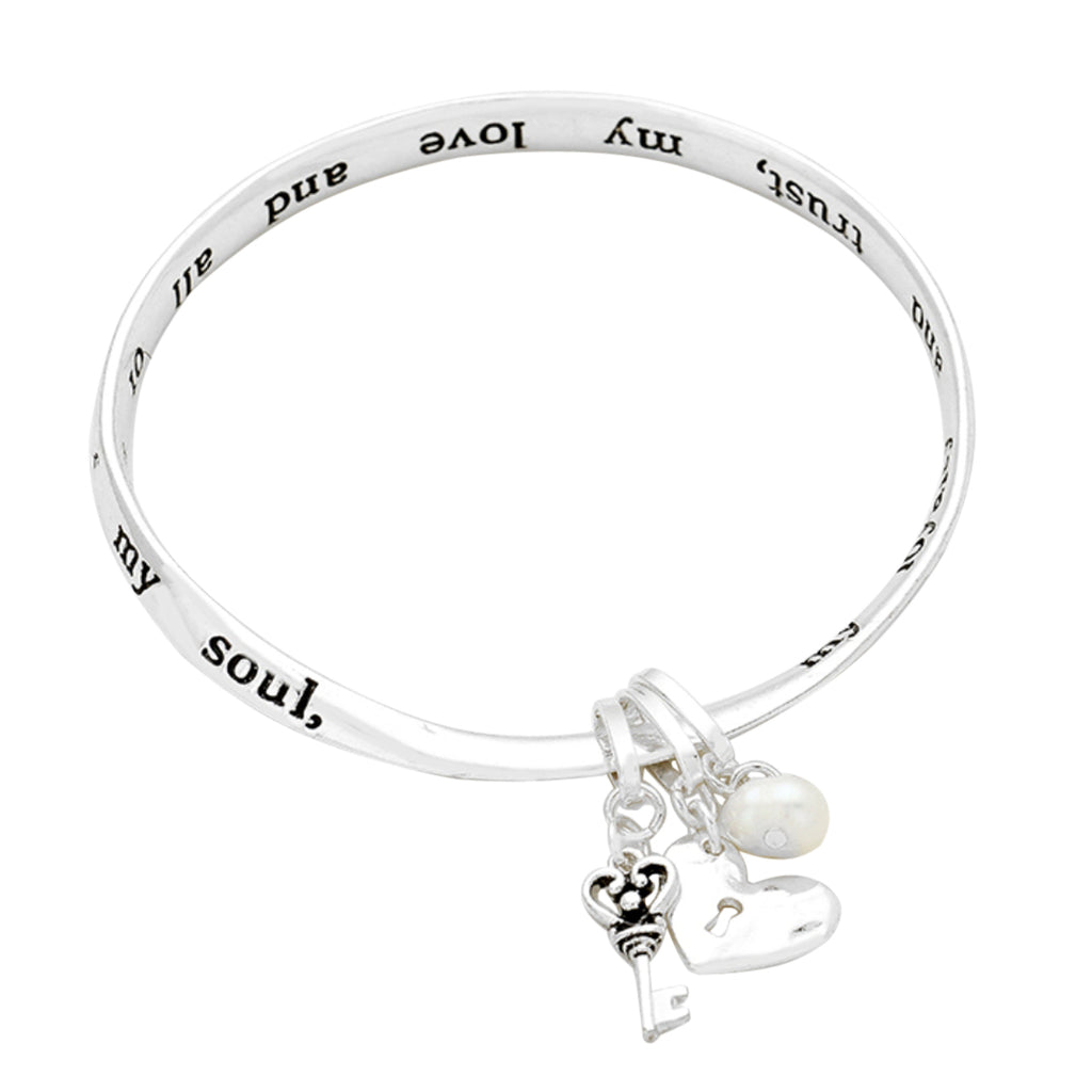 Key to My Heart Twist Bangle Bracelet