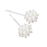 Pretty Pearl and Rhinestone Hair Clip Bobby Pins