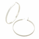 Extra Large Statement Hoop Earrings (Silver)