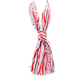 Stars and Stripes 4th of July Scarf - White