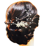 Beautiful Crystal and Faux Pearl Hair Comb