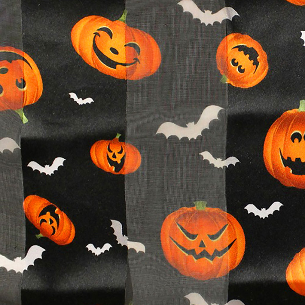 Women's Halloween Fun Pumpkin Print Lightweight Fashion Scarf