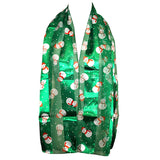 Little Snowman Green Holiday Fashion Scarf