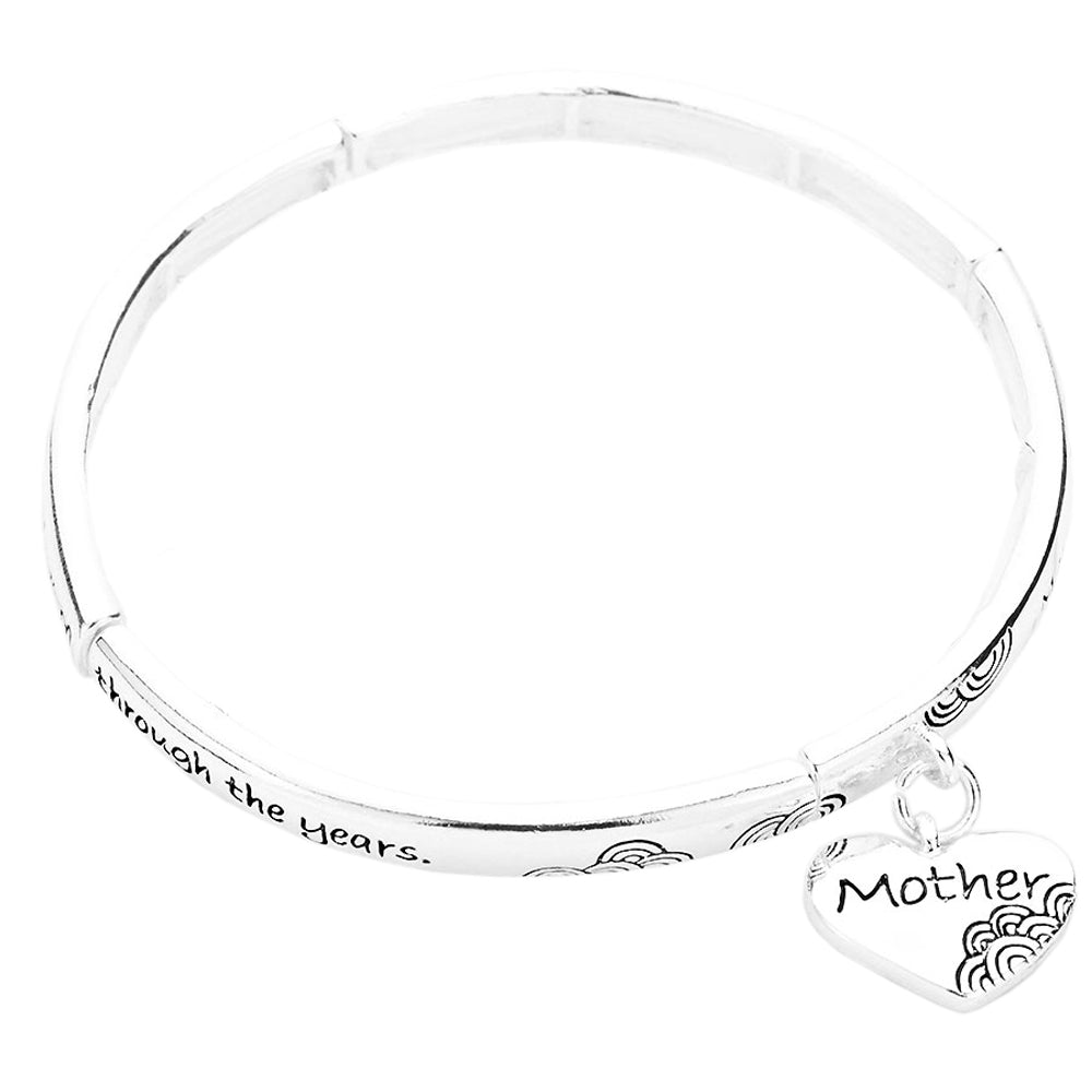 "Inspirational Stretch Bangle Bracelet ""Mom's Blessing"""