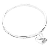 Inspirational Stretch Bangle Bracelet