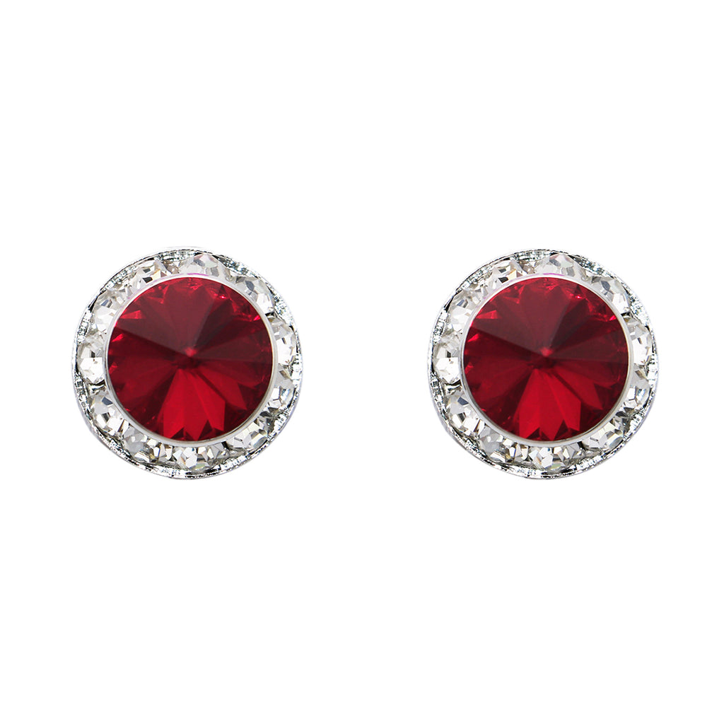 df0eaff1d Swarovski Crystal Statement Clip On Earrings (Silver Tone/Red) – Rosemarie  Collections
