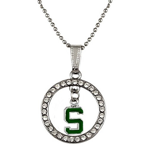 "Hoop Pendant Necklace ""Michigan State Spartans"""
