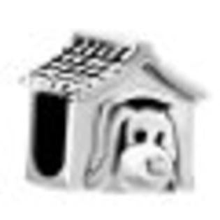 Cute Silver Dog House European Charm by Pugster - Fits All Brand Charm Bracelets