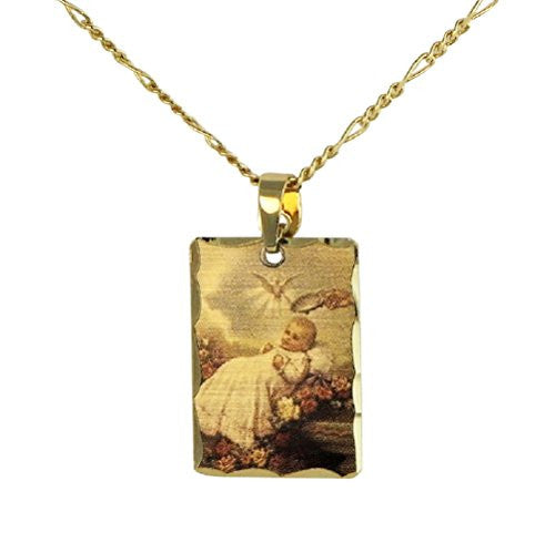 "Color Laser Charm Pendant Necklace ""Baby Baptism"""
