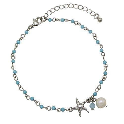 Take Me To The Beach Beaded Starfish Ankle Bracelet