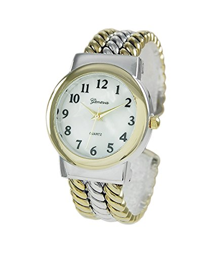 Mother of Pearl Two Tone Rope Bracelet Watch