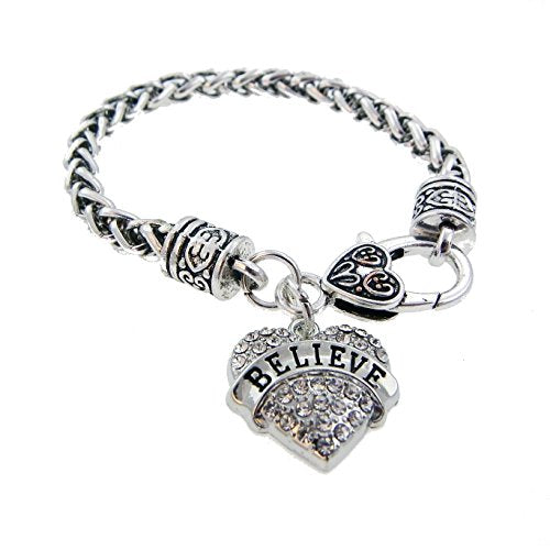 Heart Charm Bracelet Believe Keepsake Jewelry