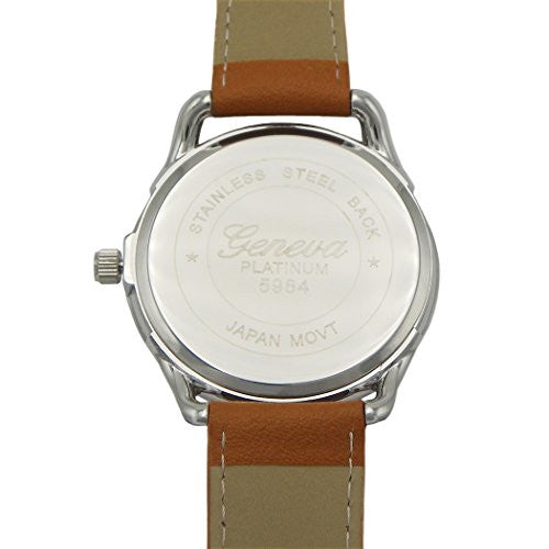 Brown and Navy Blue Large Face Unisex Wrist Watch