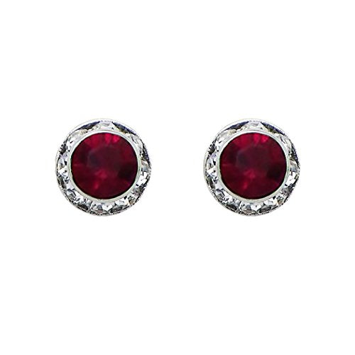 Birthstone Birth Month Swarovski Crystal Stud Earrings (January)