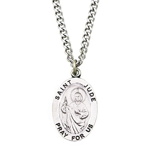 Rosemarie Collections St. Jude Religious Medal Pendant Necklace