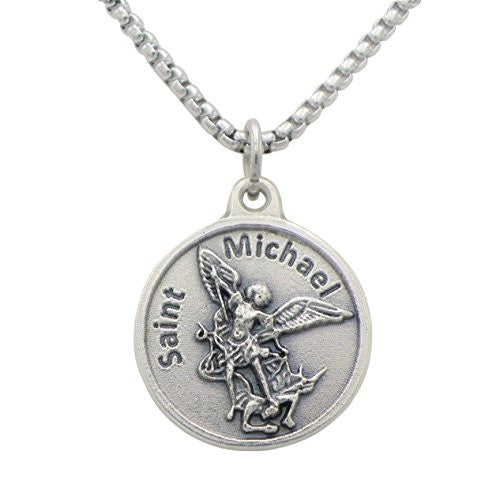 "St Michael Pendant Necklace ""Patron Saint of Police Officers"""