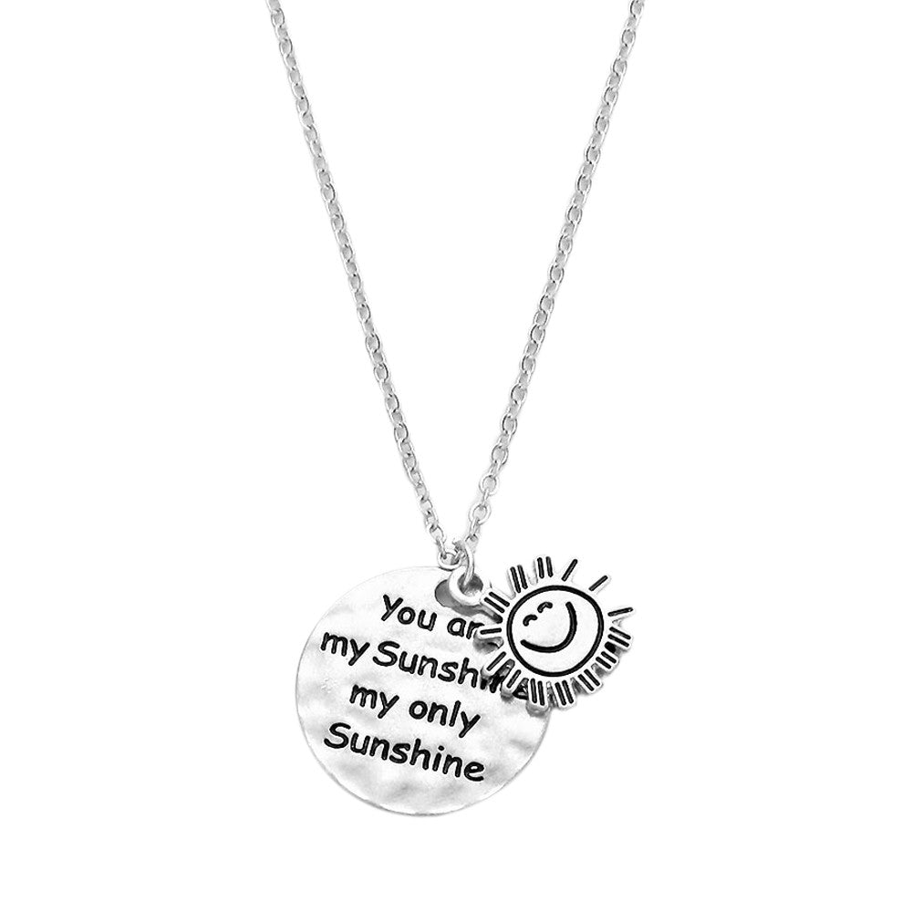 You Are My Sunshine Charm Necklace