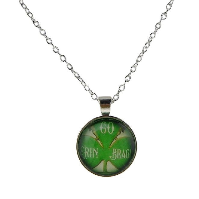 Irish Shamrock Pendant Necklace