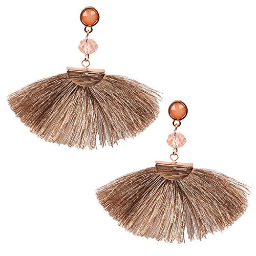 Fan Fringe Tassel Drop Fashion Earrings
