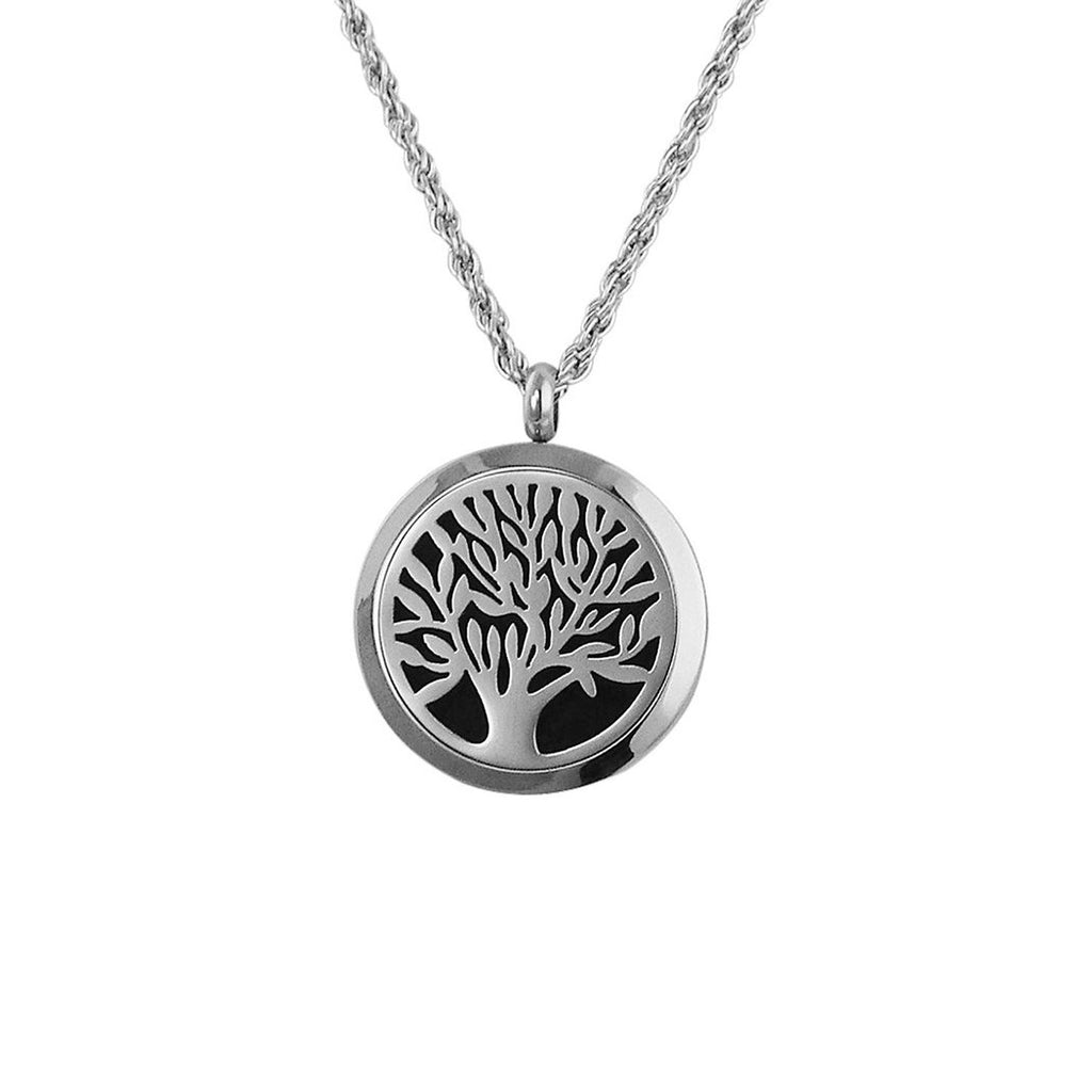 Aromatherapy Diffuser Pendant Necklace Tree Of Life