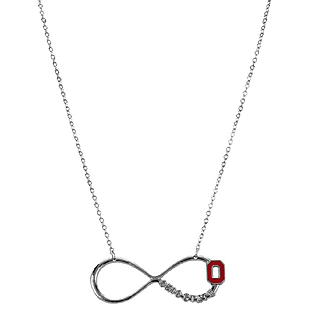 Ohio state necklace rosemarie collections ohio state university block o infinity symbol pendant necklace aloadofball Image collections