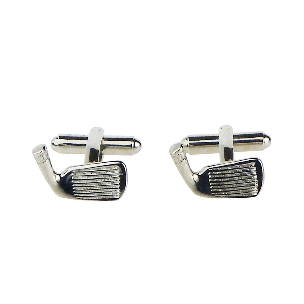 Golf Silver Color Cuff Links