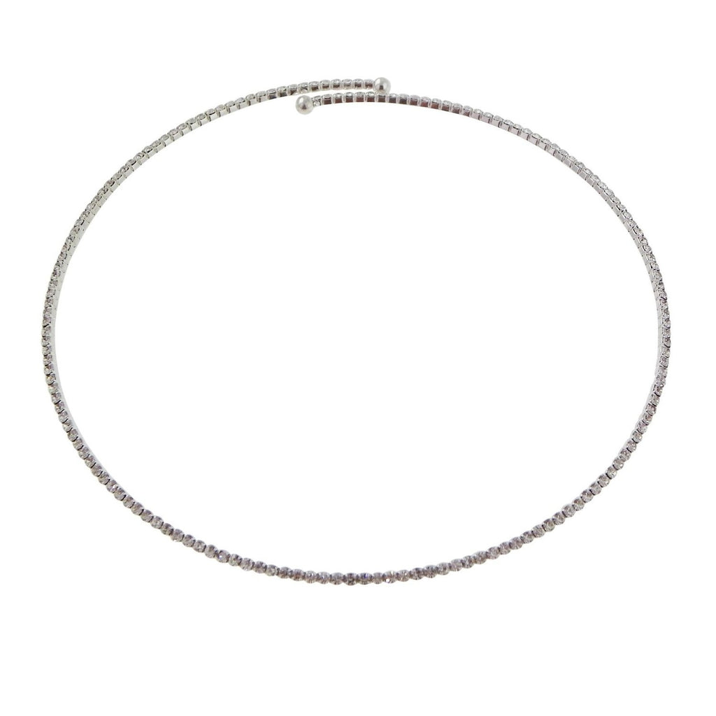 Rhinestone Thin Choker Necklace