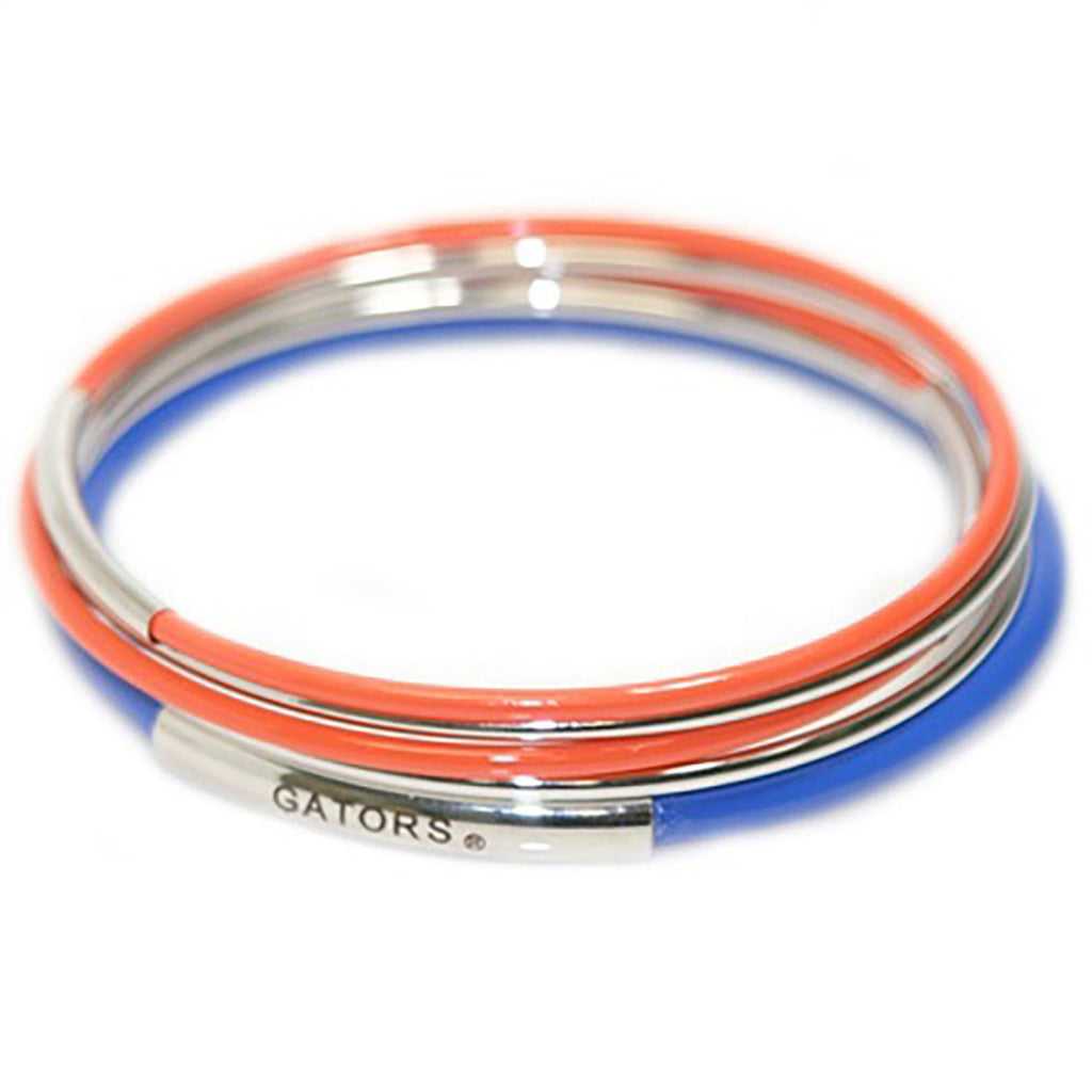 University of Florida Gators 5 Layered Bangle Bracelet Set