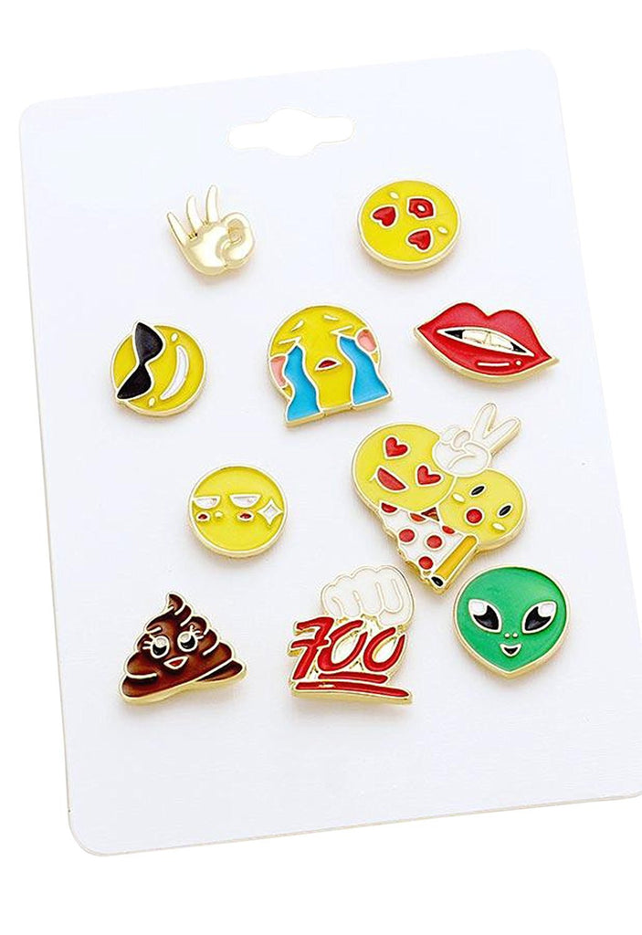 Emoji Theme Enamel Pin Set