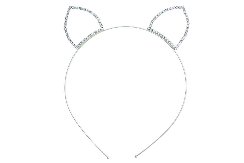 Crystal Rhinestone Cat Ears Headband