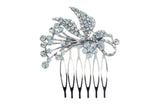 Headpiece Glass Crystal Ribbon Design Hair Comb