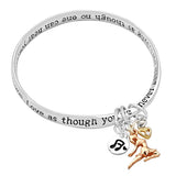 Dance Like Nobody's Watching Love, Sing, Live, Bangle Bracelet