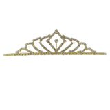 Gold Tone Crystal and Rhinestone Princess Tiara