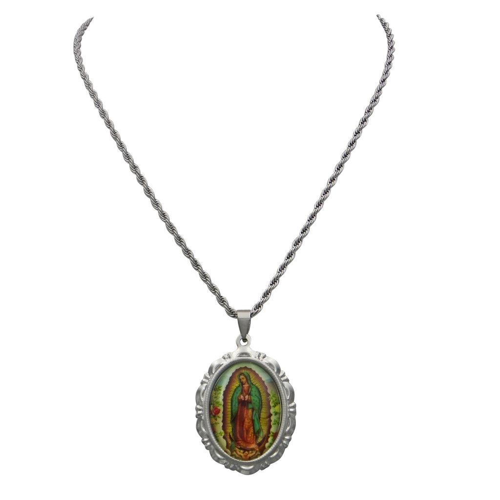 Our Lady of Guadalupe Statement Pendant Necklace