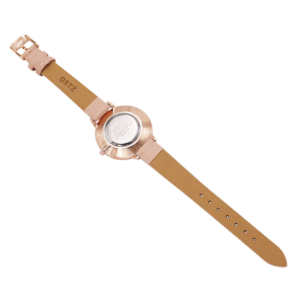New Beautiful Blush Pink Rose Gold Color Fashion Strap Watch