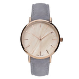 Genuine Leather Mother of Pearl Fashion Watch (Light Grey)