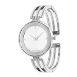 Stylish Silver Face Cuff Bracelet Watch (Silver)