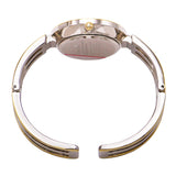 Stylish Silver Face Cuff Bracelet Watch (Two-Tone)