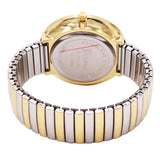Extra Large 1.75 Inch Round Face Geneva Stretch Band Watch Unisex (Extra Large Face/Two Tone)